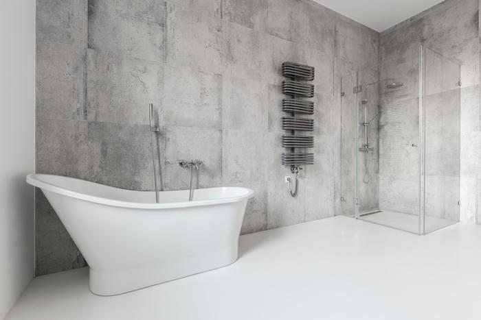 Beton architektoniczny w łazience.