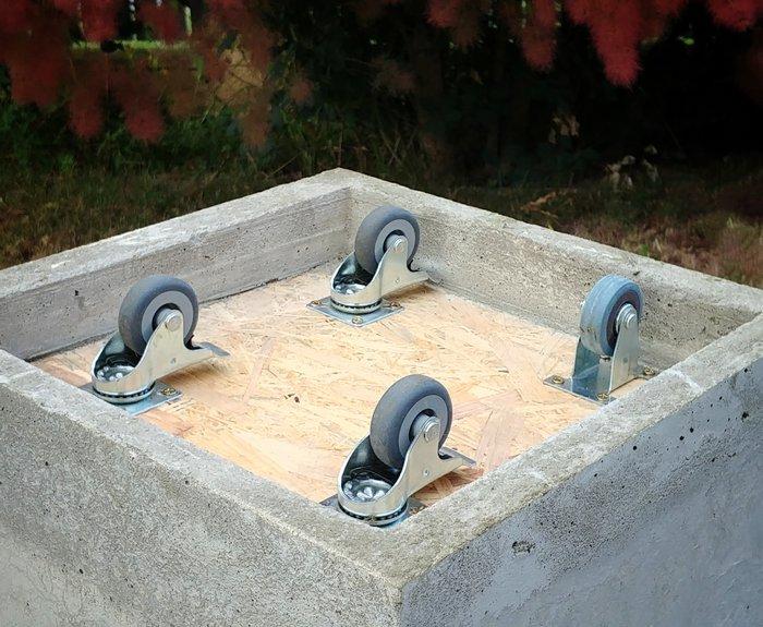 Donica betonowa z kółkami
